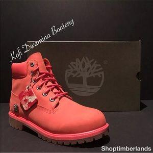 "Timberland 6"" WP Boot Pink Grade School TB0A1OPB"